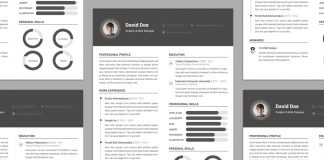 Free Elegant Resume (CV) Design Template PSD File (1)