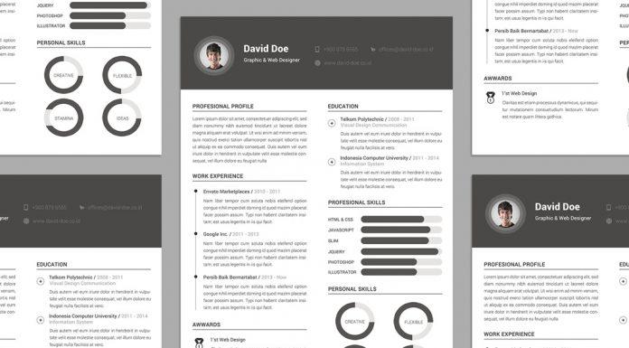 Free Elegant Resume (CV) Design Template PSD File (1)