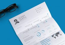 Free Infographic Resume (CV) Design Template With Cover Letter In Doc & InDesign