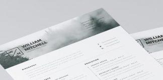 Free Minimalist Resume (CV) Design Template PSD & Ai Files (3)