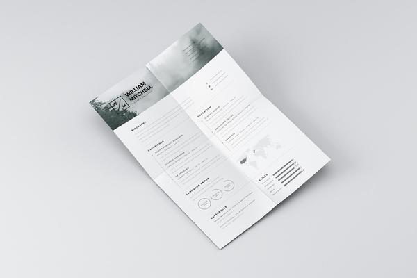 Free Minimalist Resume (CV) Design Template PSD & Ai Files (4)