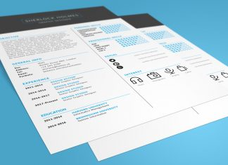 Free Multipurpose Resume (CV) Design Template PSD File (1)