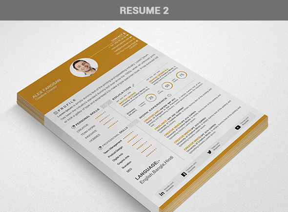 Free Professional Resume (CV) Template With Cover Letter & Portfolio PSD Files-2