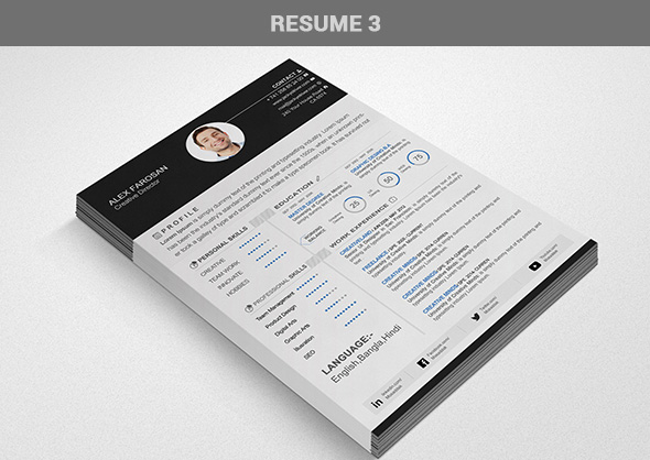 Free Professional Resume (CV) Template With Cover Letter & Portfolio PSD Files-3