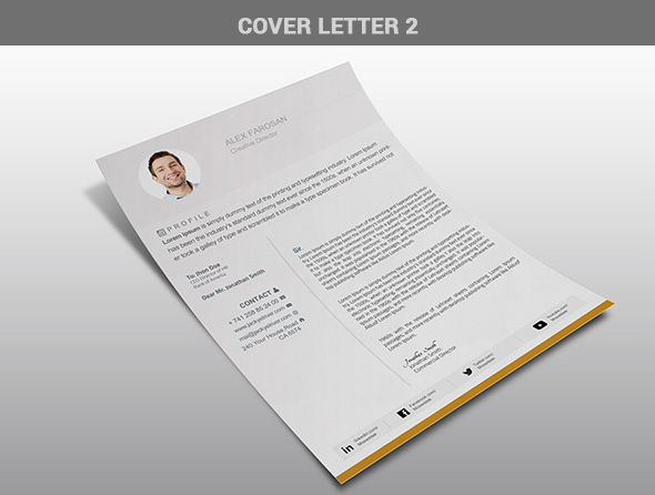 Free Professional Resume (CV) Template With Cover Letter & Portfolio PSD Files-5