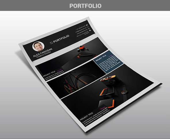 Free Professional Resume (CV) Template With Cover Letter & Portfolio PSD Files-6