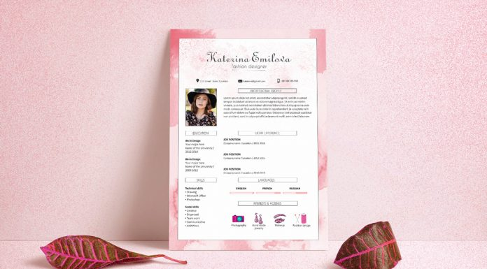 Free-Resume-(CV)-Design-Template-For-Fashion-Designer-PSD-File-(5)
