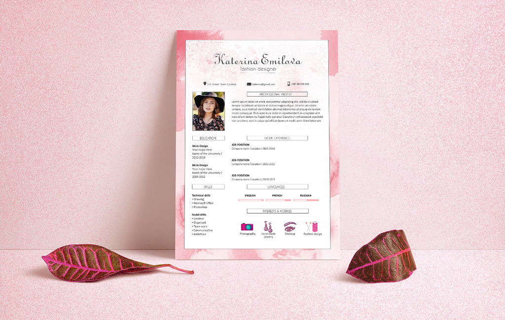 Free Resume Cv Design Template For Fashion Designer Psd File Good Resume