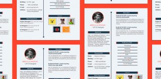 Free Simple Resume (CV) Design Template For UX-UI Designer PSD File (3)