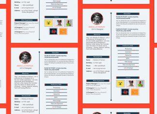 Free Simple Resume (CV) Design Template For UX-UI Designer PSD File (3)
