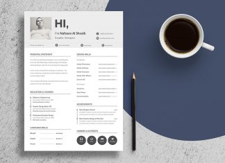 Free Unique Resume Design (CV) Template In PSD & Ai Files