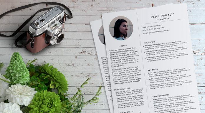 Simple & Minimal Resume (CV) Template PSD File (1)