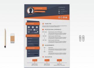 Free Creative Resume (CV) Design Template Ai File (1)