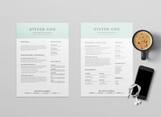 Free Minimalist Resume (CV) Design Template With Cover Letter In DOC & Indesign (2)