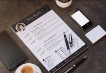 Template Cover Letter Job Free Black Elegant Resume Cv Design Ukzwbd on