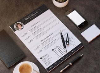 Free Professional Resume (CV) Design Template With Cover Letter PSD Files (1)