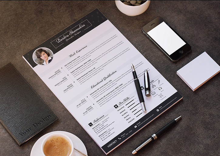 Free Professional Resume (CV) Design Template With Cover ...