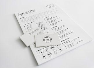 Free Simple Clean Resume (CV) Design Template Sketch File (1)