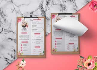 Free-Artistic-Resume-(CV)-Design-Template-PSD-File-1