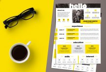 Free Creative Resume (CV) Design Template PSD File (1)