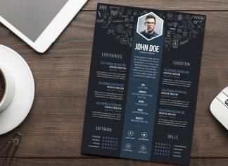Free-Creative-Resume-(CV)-DesignTemplate-PSD-File-2