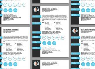 Free Simple Resume (CV) Design Template PSD File (1)