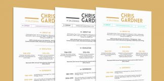Free Simple Resume (CV) Design Template With Business Card PSD & PPT Files