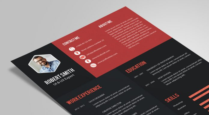 Creative Resume (CV) Design Template PSD File (1)