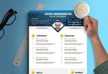 Free Creative Resume (CV) Design Template PSD File