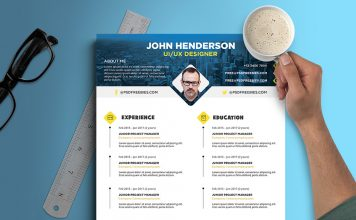 Free Creative Resume (CV) Design Template PSD File