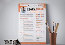 Free Professional Resume (CV) Design Template PSD (2)