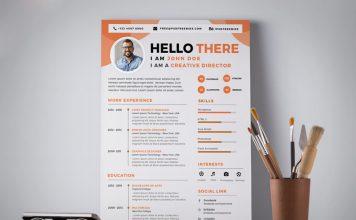 Free Professional Resume (CV) Design Template PSD (2)