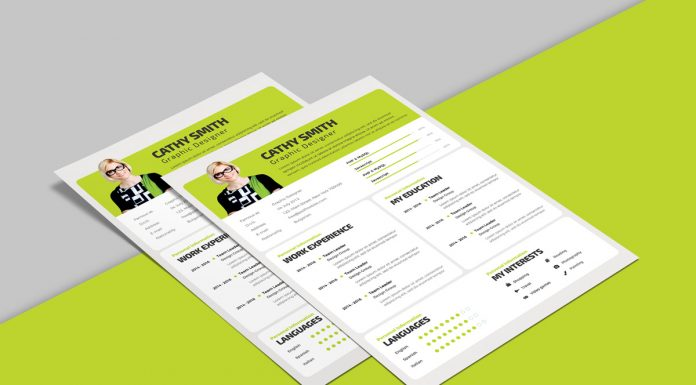 Free Professional Resume Design Template PSD File (1)