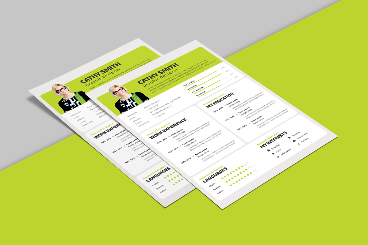 Free Professional Resume Design Template PSD File