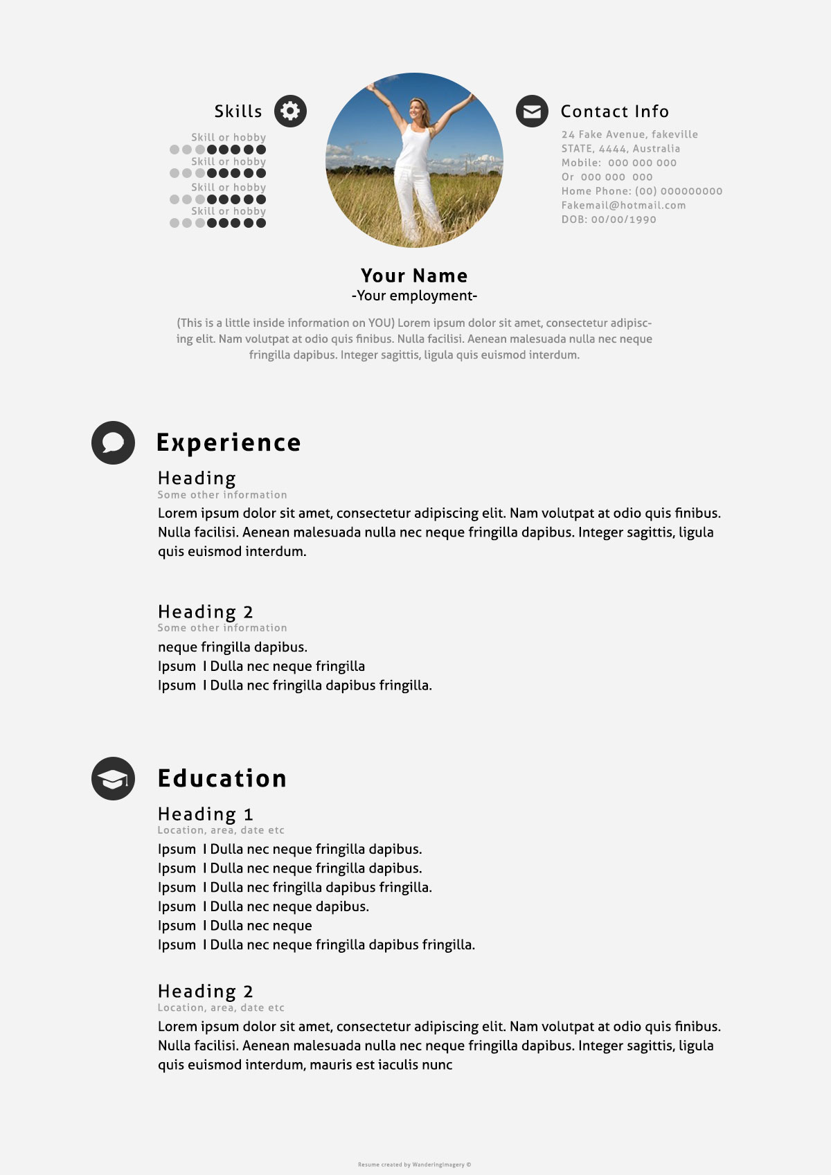 Download-Free-Simple-PSD-Resume-Template