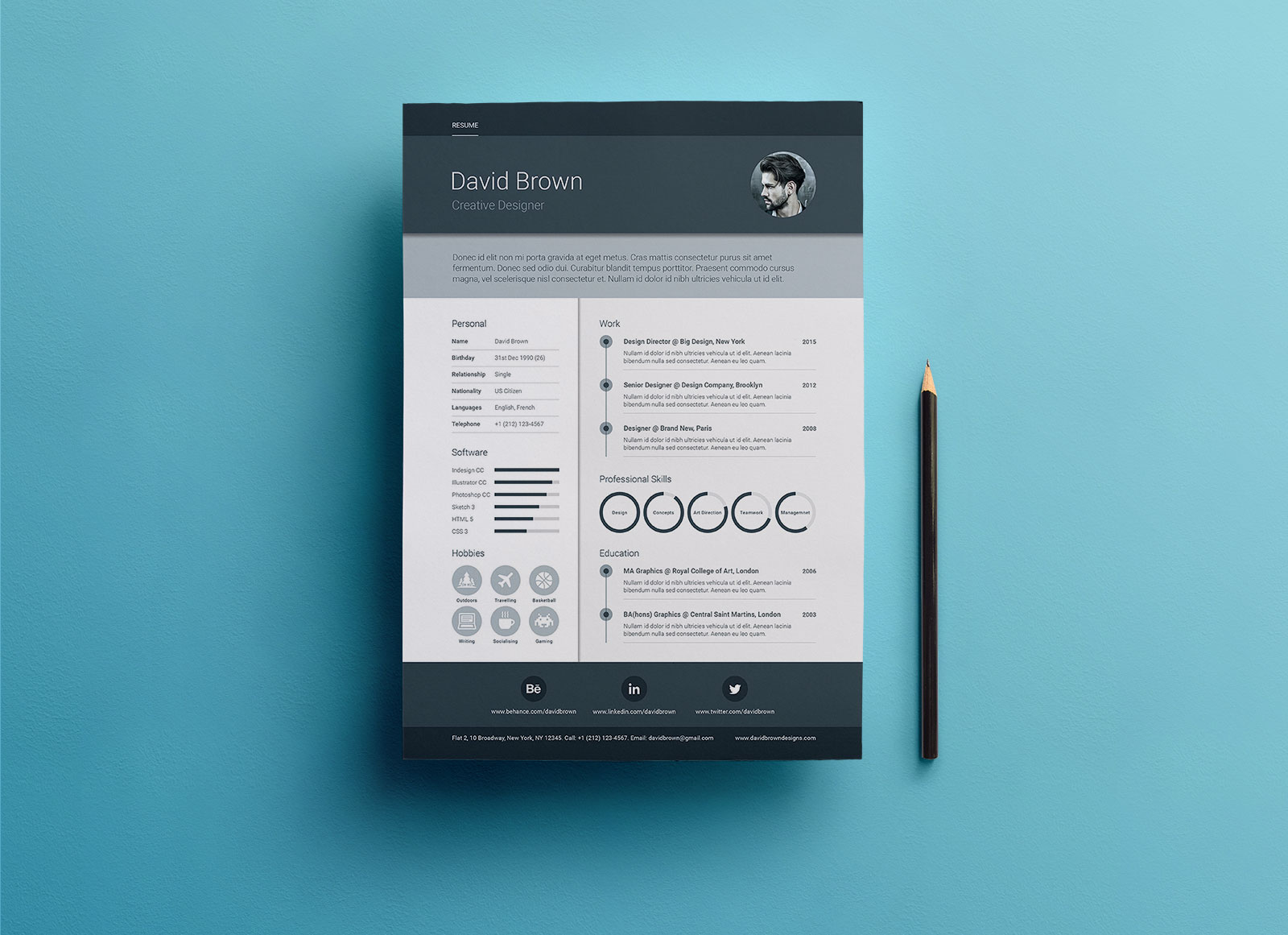 Free-A4-Material-Resume-Design-Template-in-PSD,-Ai-&-INDD