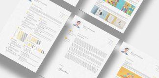 Free CV Resume Cover Letter & Portfolio Design Template in Photoshop PSD & Indesign INDD Format