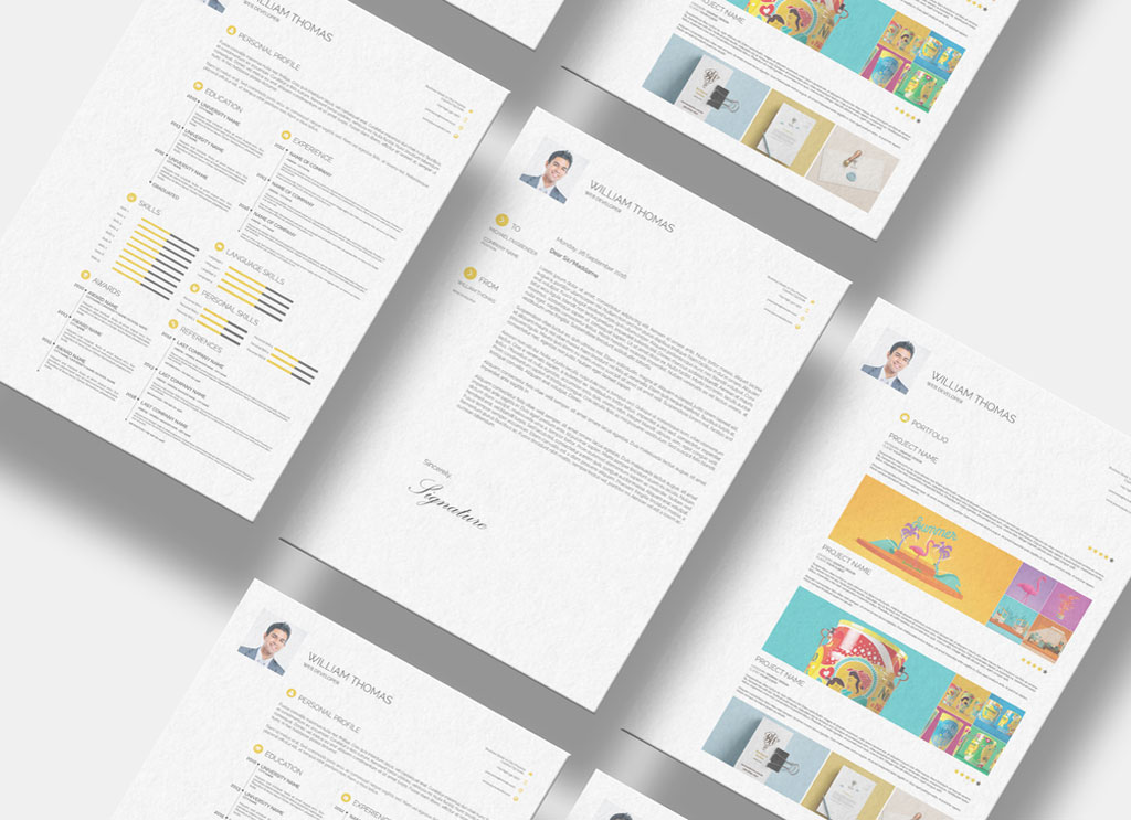 free cv   resume  cover letter  u0026 portfolio design template