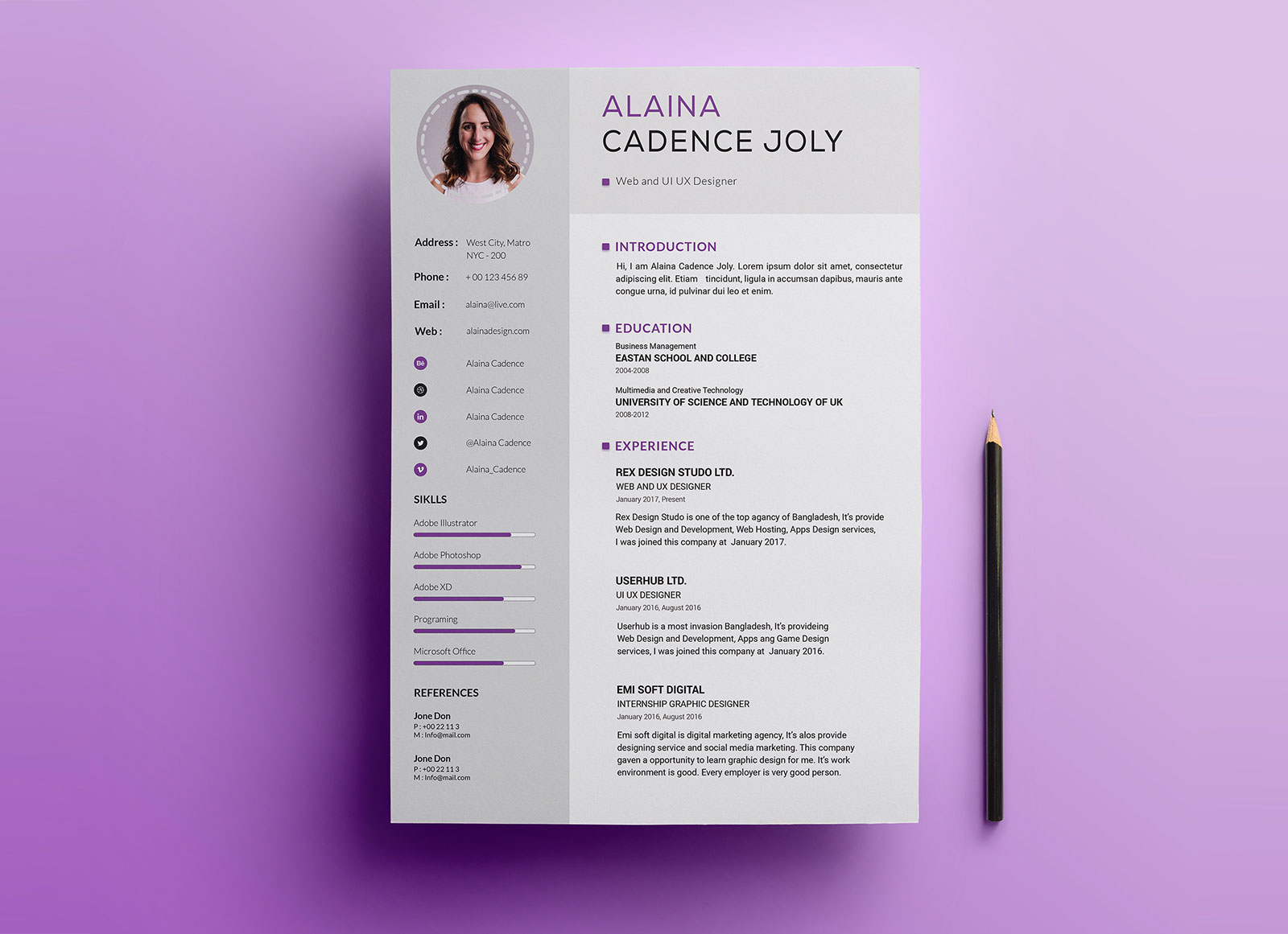 Free-Clean-&-Professional-Resume-With-Cover-Letter-PSD-1 - Copy