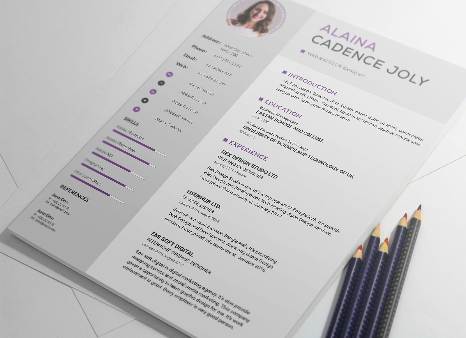 Free-Clean-&-Professional-Resume-With-Cover-Letter-PSD-3 - Copy