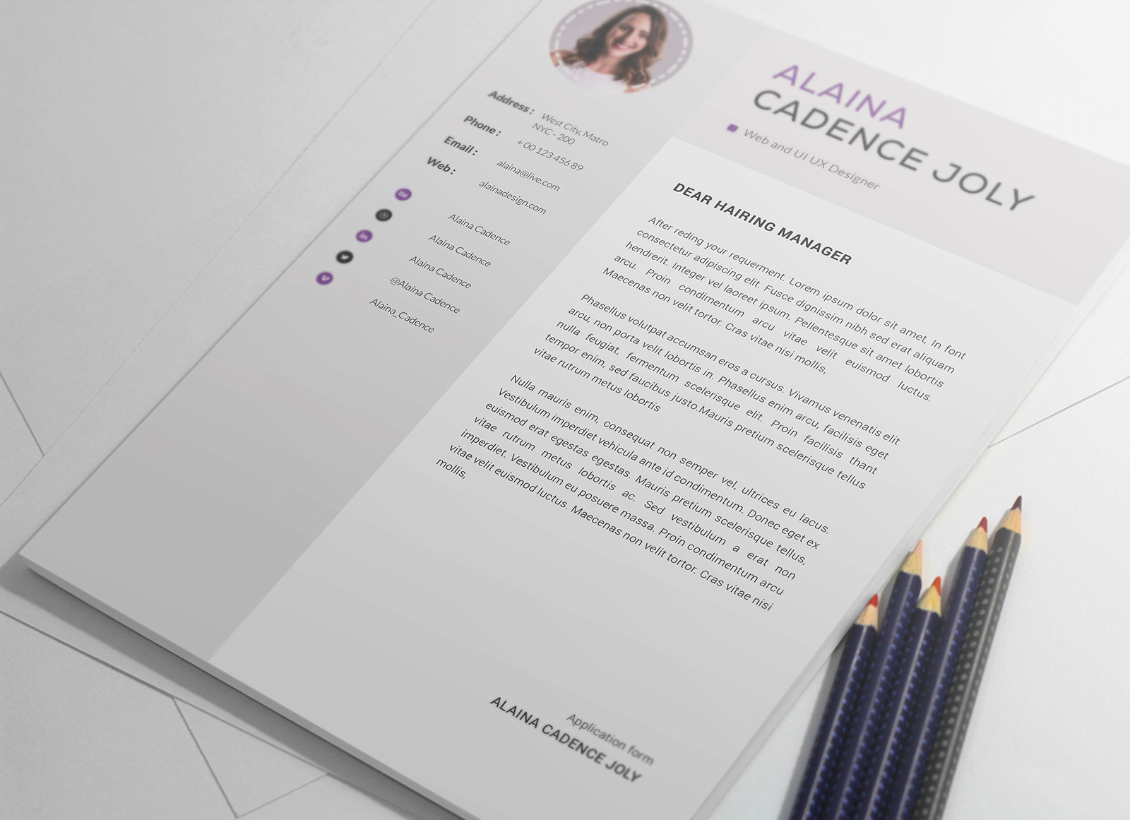 Free-Clean-&-Professional-Resume-With-Cover-Letter-PSD-4