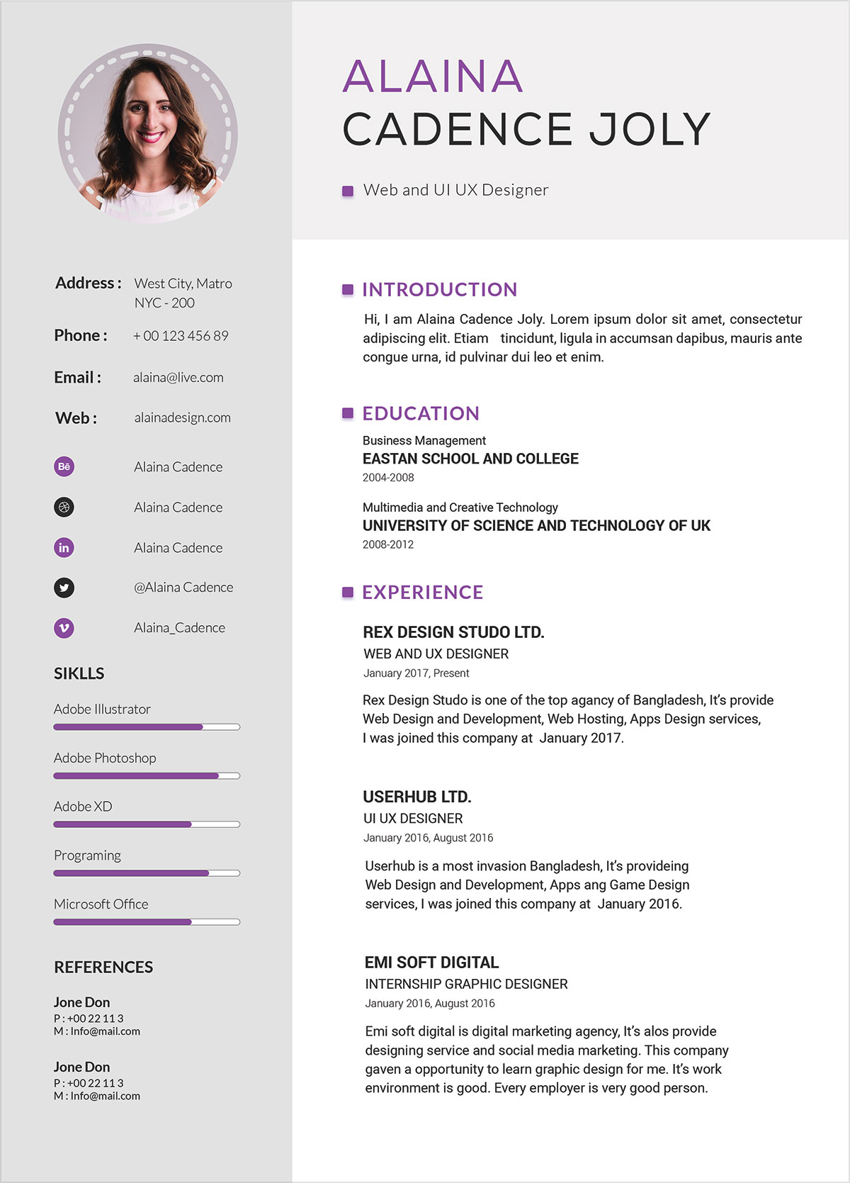 Free-Clean-&-Professional-Resume-With-Cover-Letter-PSD-6 - Copy