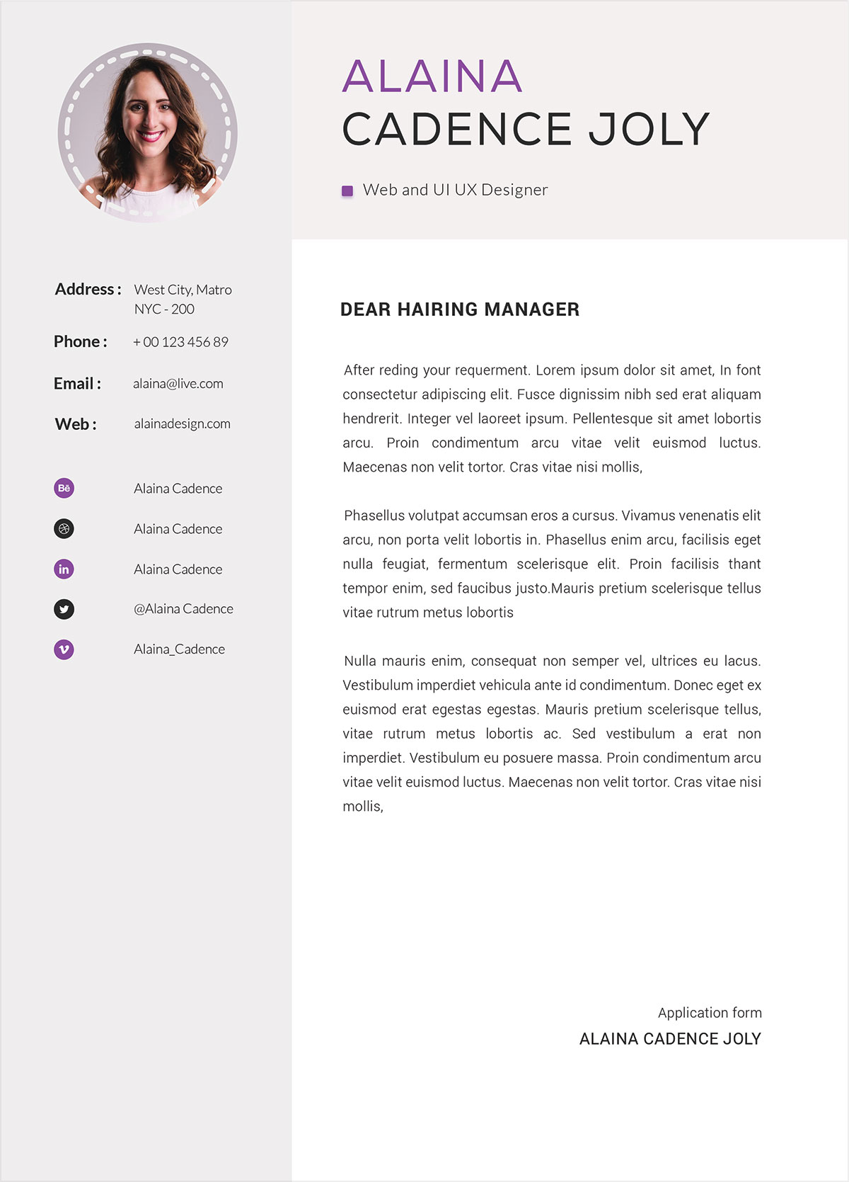 Free-Clean-&-Professional-Resume-With-Cover-Letter-PSD-7