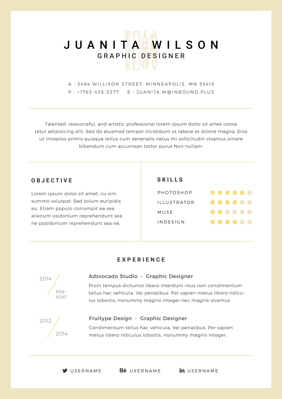 Free Clean Resume Template In Psd For Graphic Designers