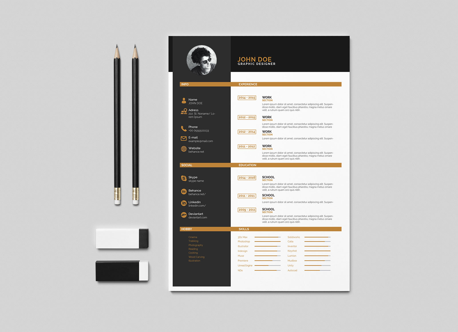 Free-Clean-Two-Color-Resume-Template-in-Indesign-INDD-Format