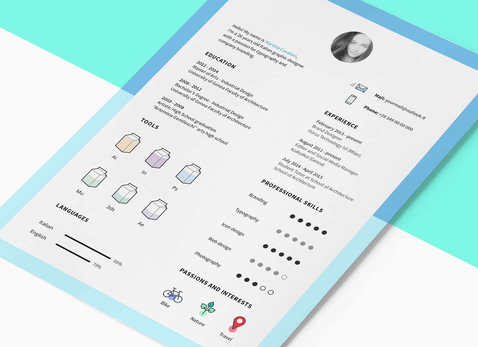 Free Creative Resume Letterhead Template In Indd Idml Good