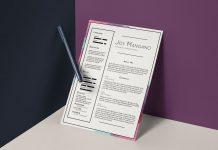 Free-Elegant-Resume-PSD-CV-Template-3
