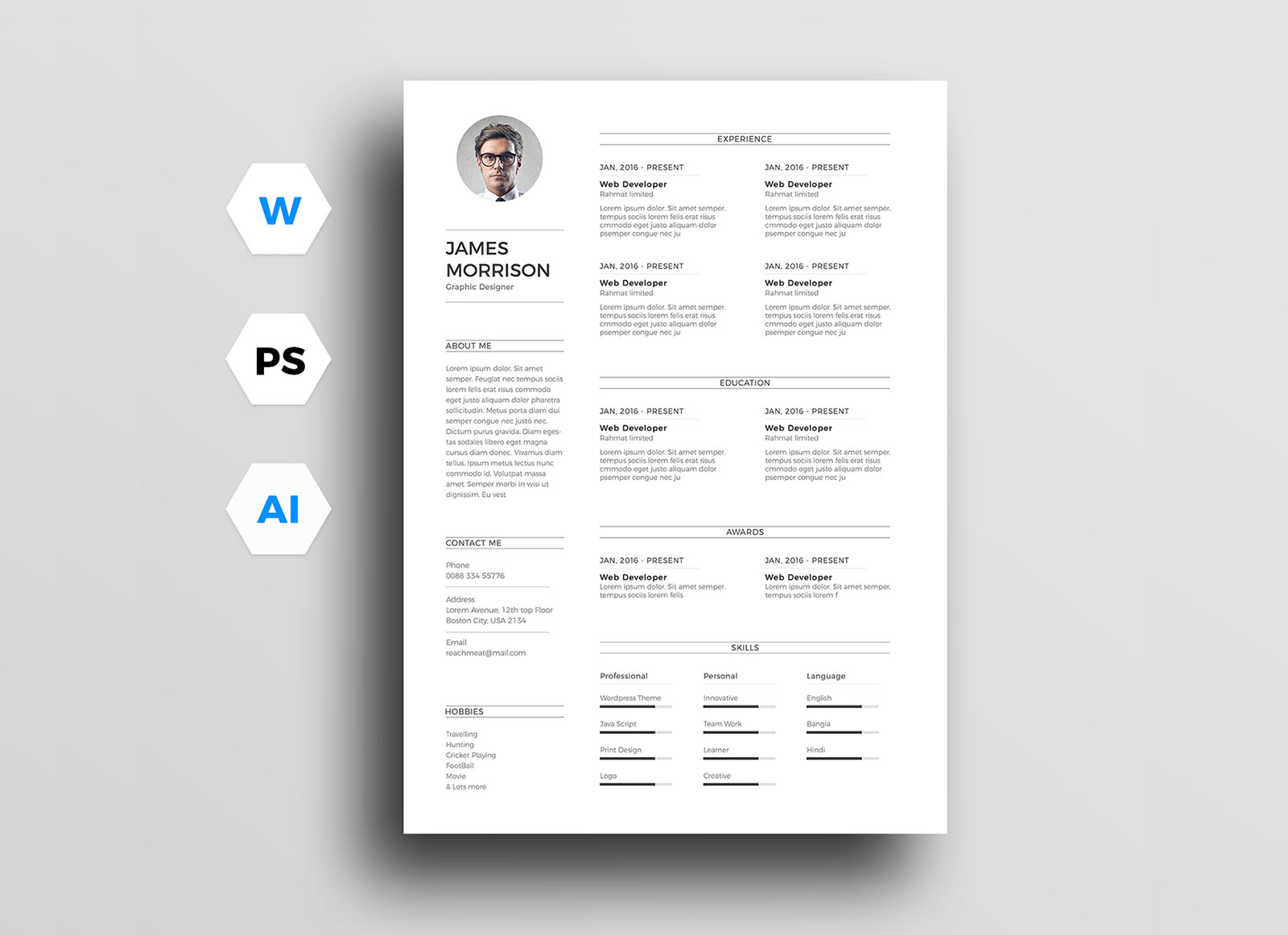 Free-Minimal-CV-Resume-Template-in-Word-Ai-&-PSD (1)