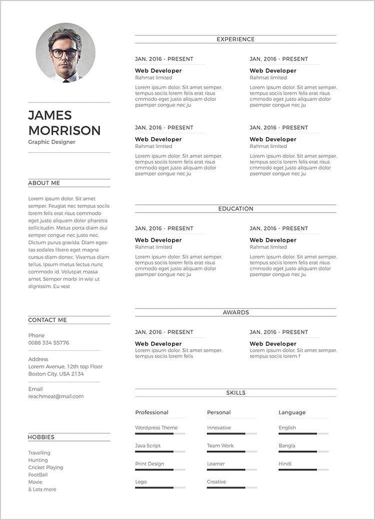 Free-Minimal-CV-Resume-Template-in-Word-Ai-&-PSD (5)