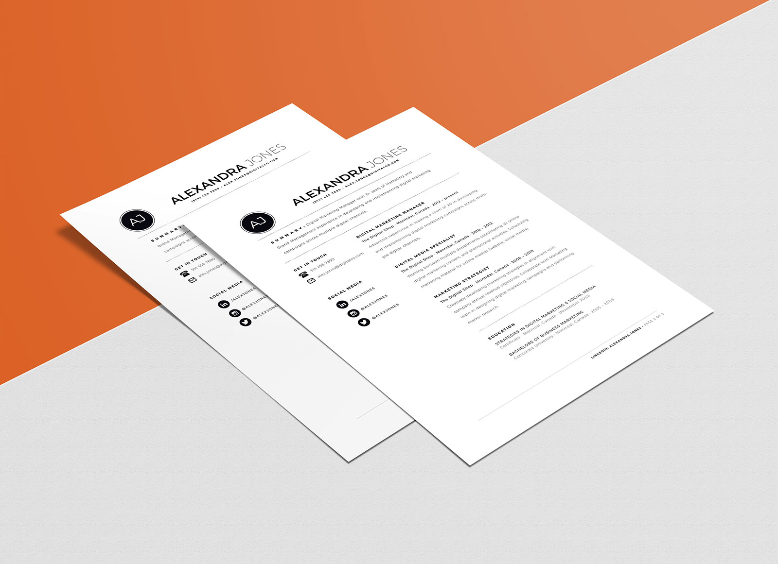 Free-Minimalistic-Resume-Template-in-INDD,-Ai-&-Word-Format-2